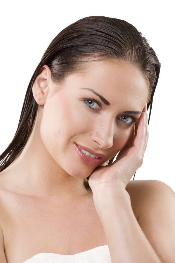 mokra włosy kobieta zdjęcie royalty free