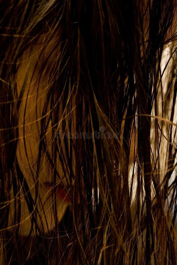 mokre włosy zdjęcia royalty free