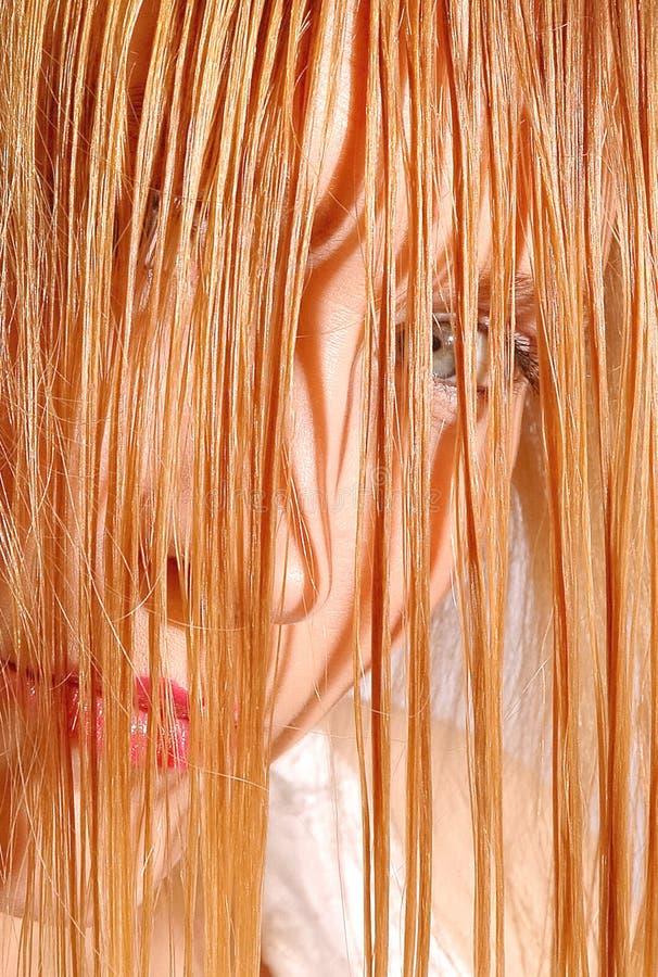 mokre włosy zdjęcie stock