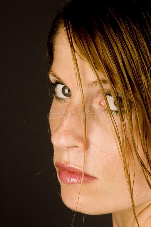 mokre włosy kobiety young obrazy royalty free