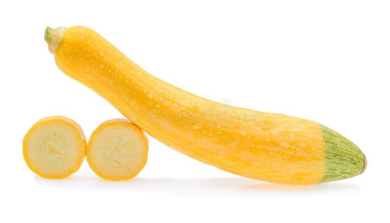 Mokry żółty zucchini obraz stock