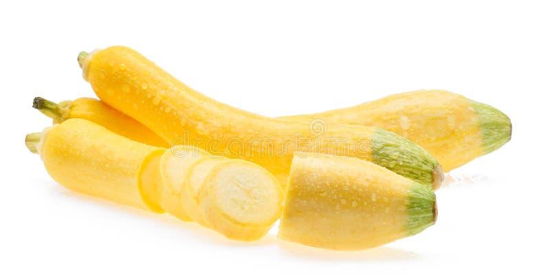 Mokry żółty zucchini zdjęcie stock