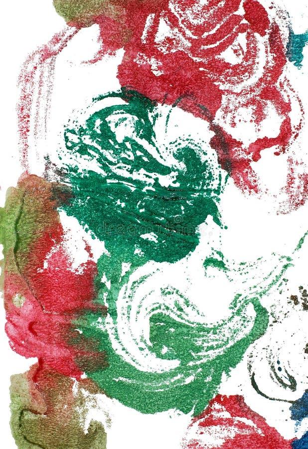 mokrzy farba zawijasy zdjęcie stock