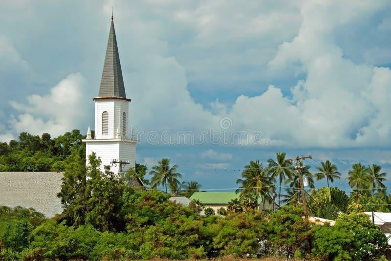 Mokuaikaua教会在夏威夷的大岛的Kona 免版税库存图片