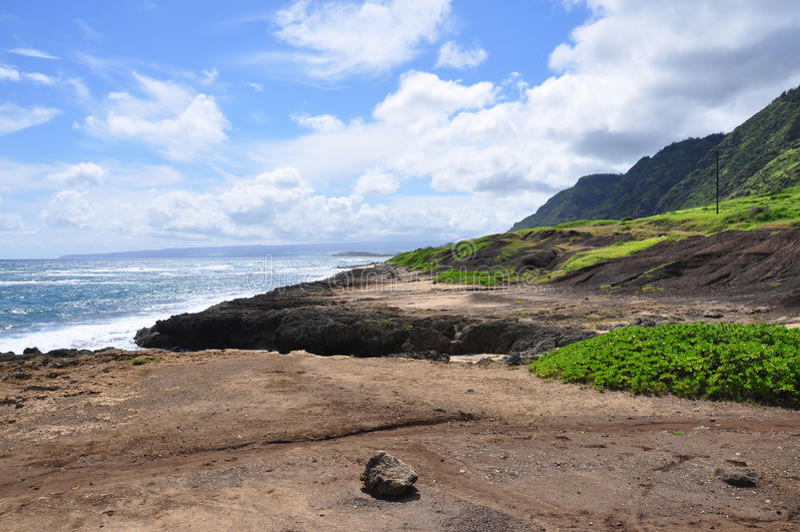 Mokuleia plaży park, Północny brzeg, Oahu obrazy royalty free