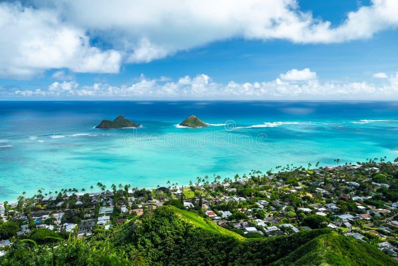 Mokulua öar fotografering för bildbyråer