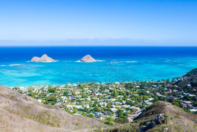 Mokulua wyspy, Oahu zdjęcia royalty free