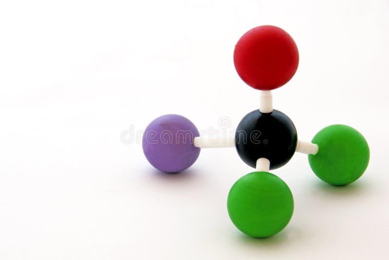 Molécula imagen de archivo libre de regalías