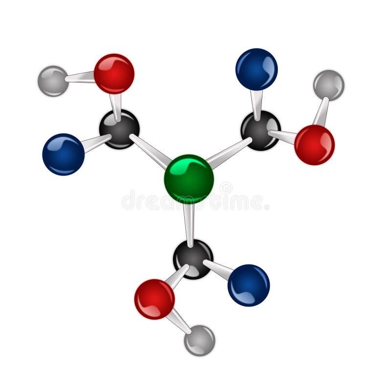 Molécula ilustração stock