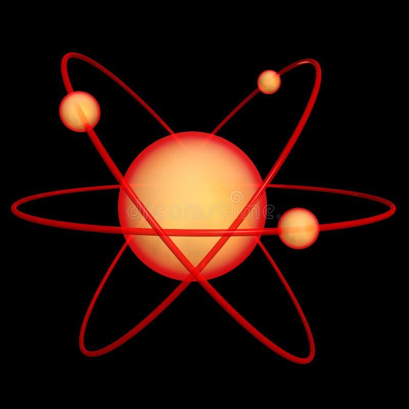 Molécula 2 del átomo ilustración del vector