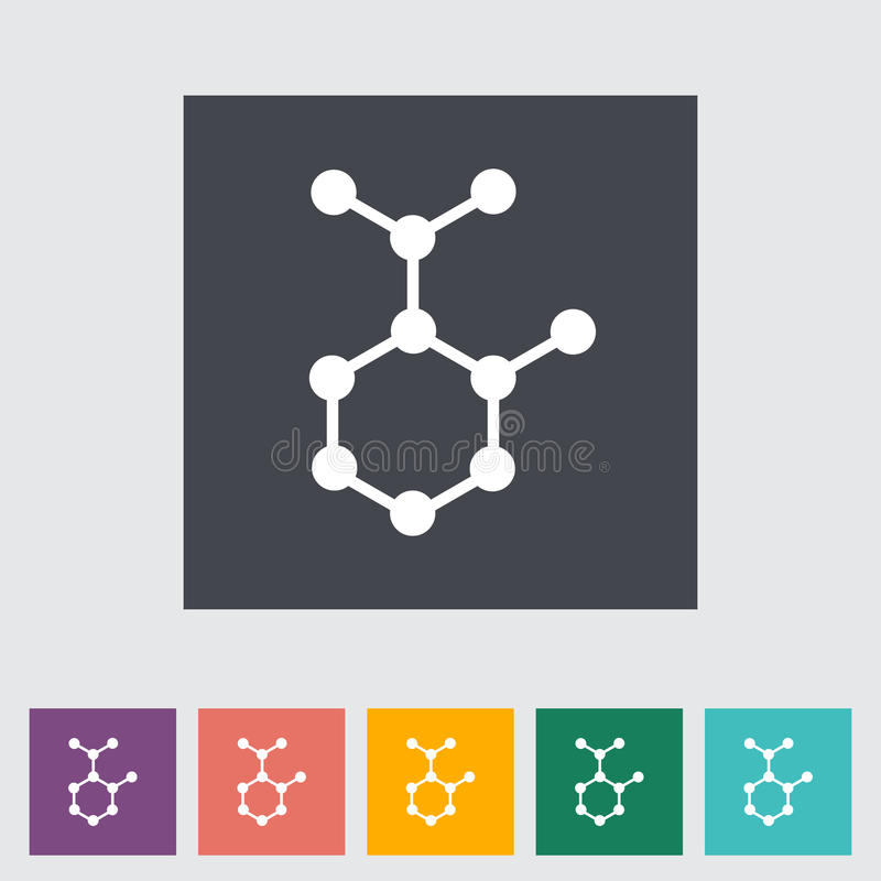 Molécula ilustração do vetor