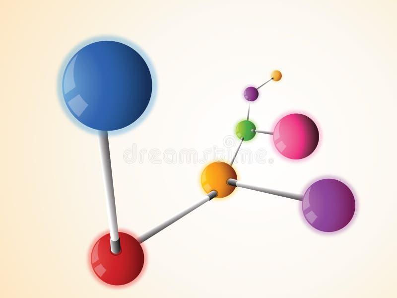 Molécula imágenes de archivo libres de regalías