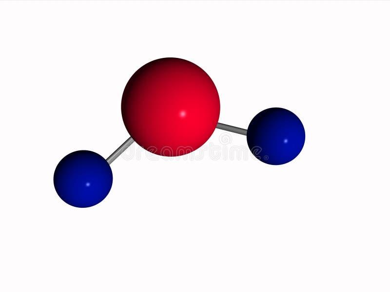 Molécula - agua - H2O ilustración del vector