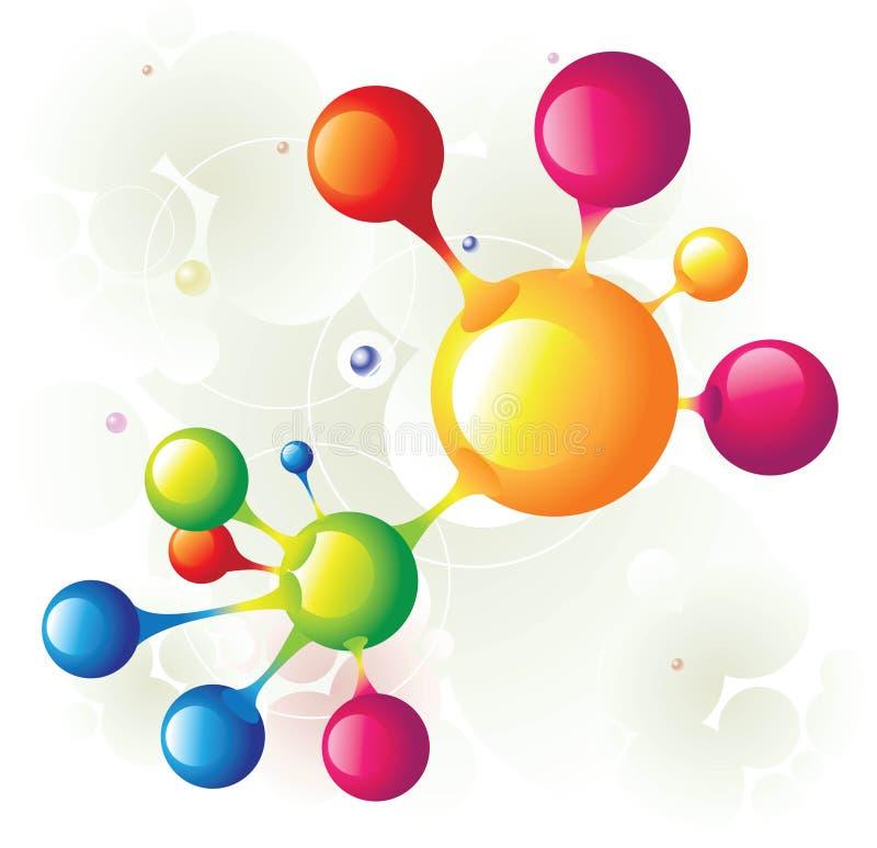 Molécula combinada ilustración del vector