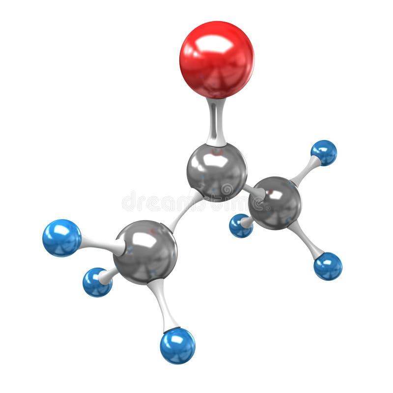 Molécula da acetona ilustração do vetor