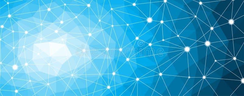 Molécula da estrutura e nó de uma comunicação, neurônios Fundo da ciência abstrata ilustração stock