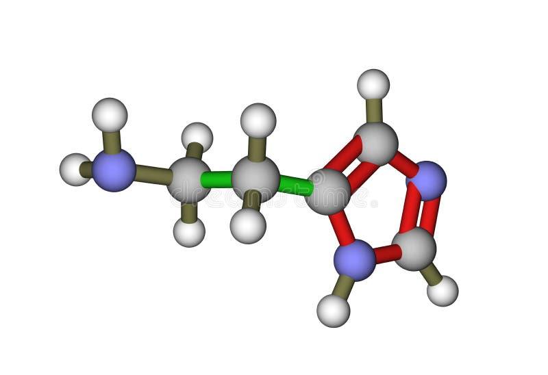 A molécula da histamina ilustração royalty free