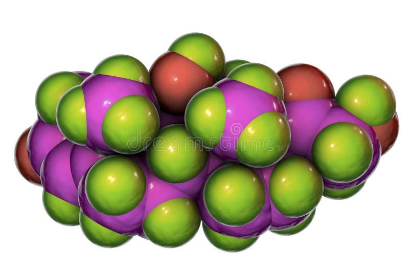Molécula da hormona do cortisol ilustração royalty free