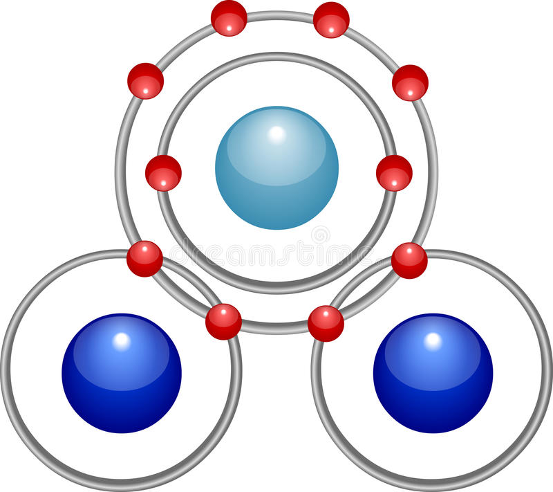 Molécula de água ilustração do vetor