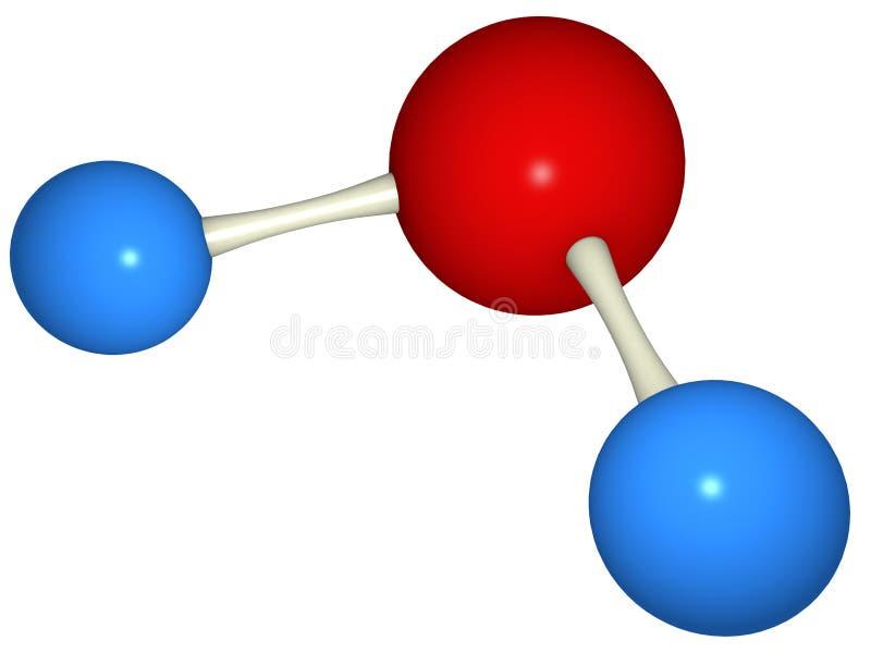 Molécula de agua stock de ilustración
