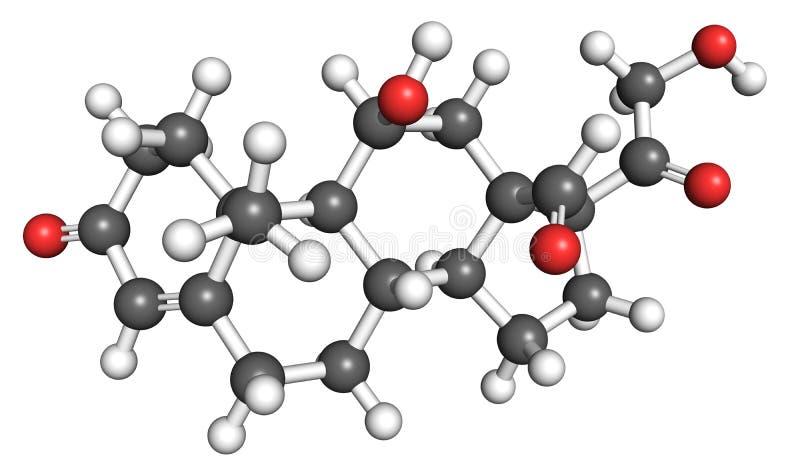 Molécula de la aldosterona stock de ilustración