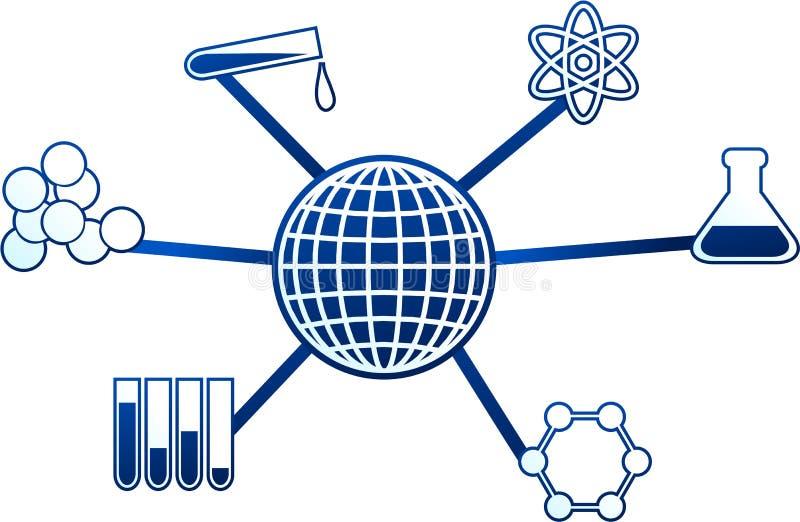 Molécula de la ciencia ilustración del vector