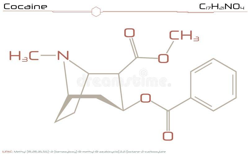 Molécula de la cocaína ilustración del vector