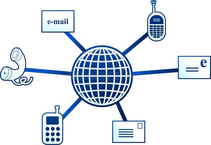 Molécula de la comunicación stock de ilustración