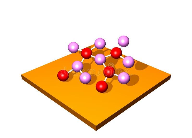 Molécula de la investigación stock de ilustración
