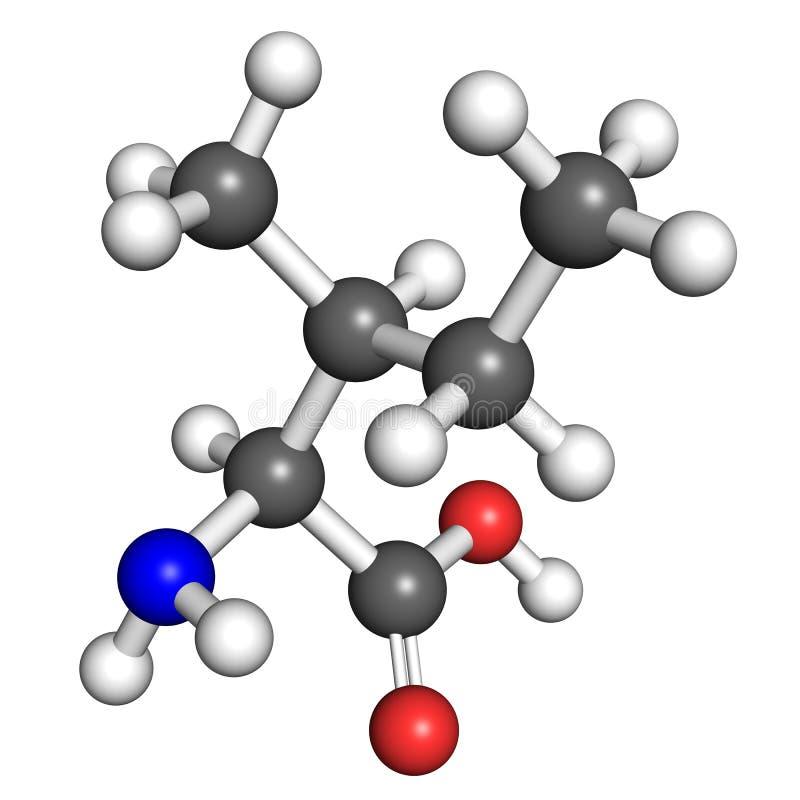 Molécula de la isoleucina stock de ilustración