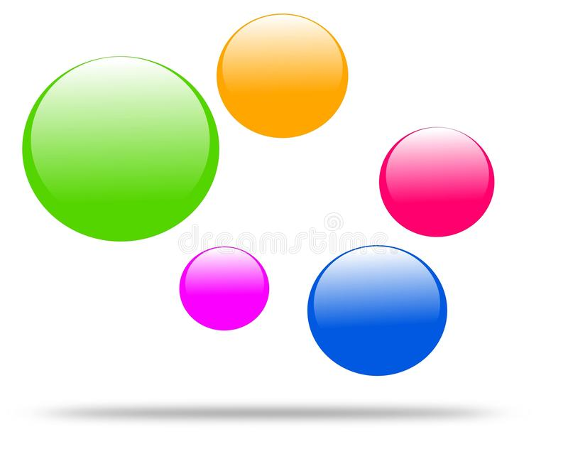 Molécula de tiragem do logotipo da empresa ilustração stock