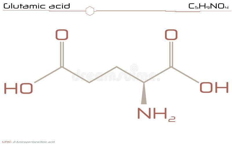 Molécula del ácido glutámico libre illustration