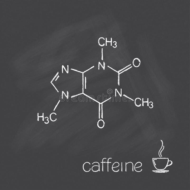 Molécula del cafeína stock de ilustración
