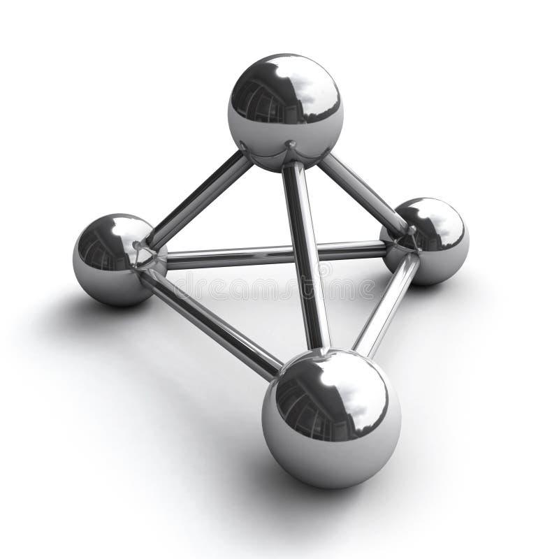 Molécula del cromo stock de ilustración