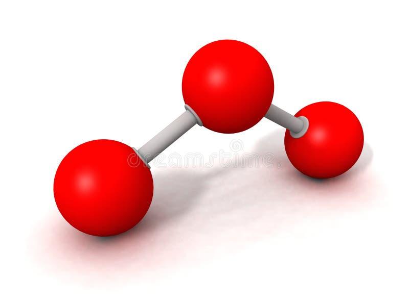 Molécula del ozono stock de ilustración