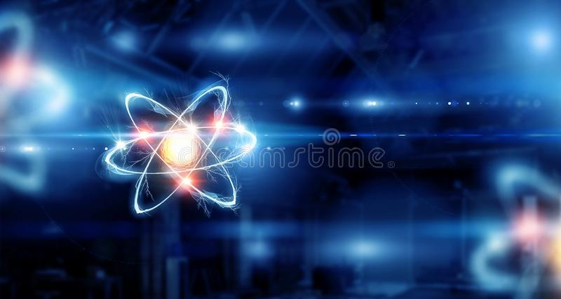 Molécula do átomo Meios mistos imagens de stock