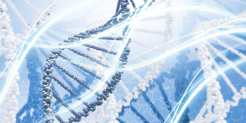 Molécula do ADN imagem de stock