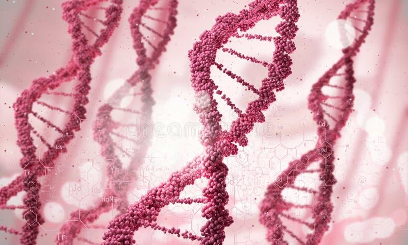 Molécula do ADN fotos de stock royalty free