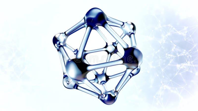 Molécula do ADN feita da ilustração da água 3d fotos de stock royalty free