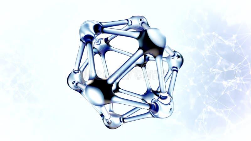 Molécula do ADN feita da ilustração da água 3d ilustração do vetor
