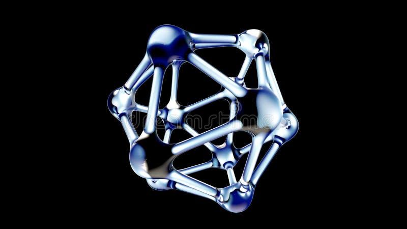 Molécula do ADN feita da ilustração da água 3d ilustração royalty free