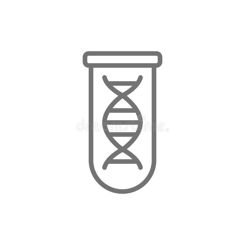 Molécula do ADN na linha ícone do tubo de ensaio ilustração stock