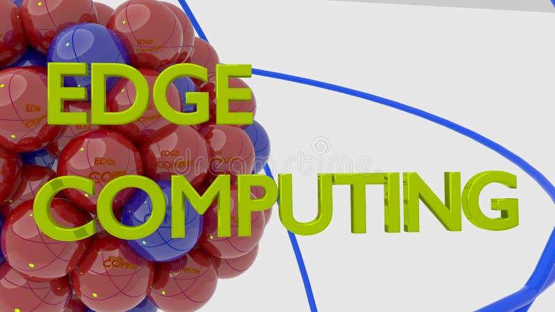 Molécula em vermelho e em azul refletindo as palavras para afiar a computação ilustração stock