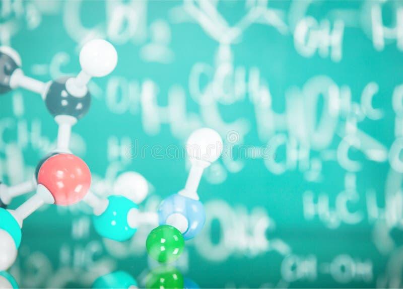 Molécula en laboratorio imagen de archivo