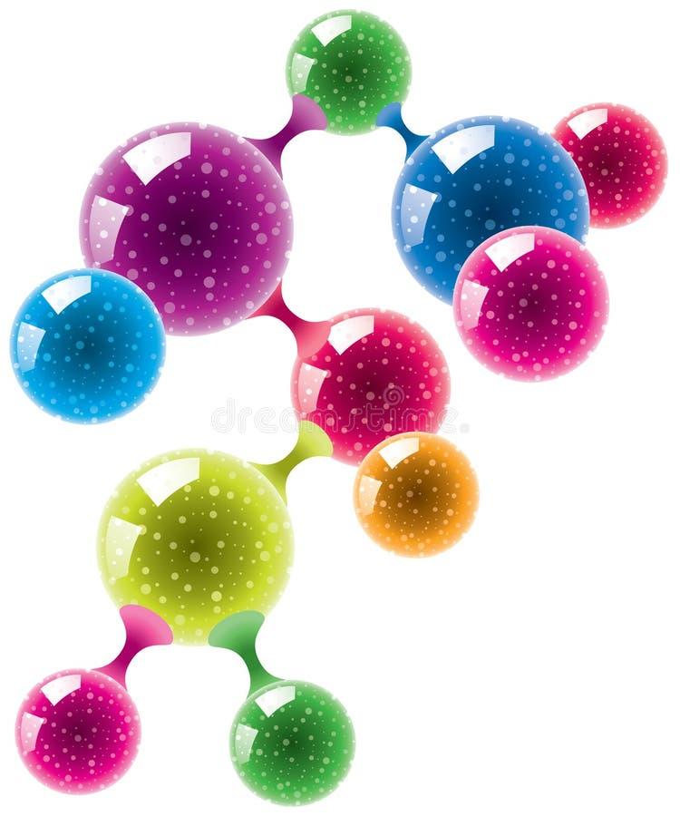Molécula ou micróbio abstrato ilustração stock