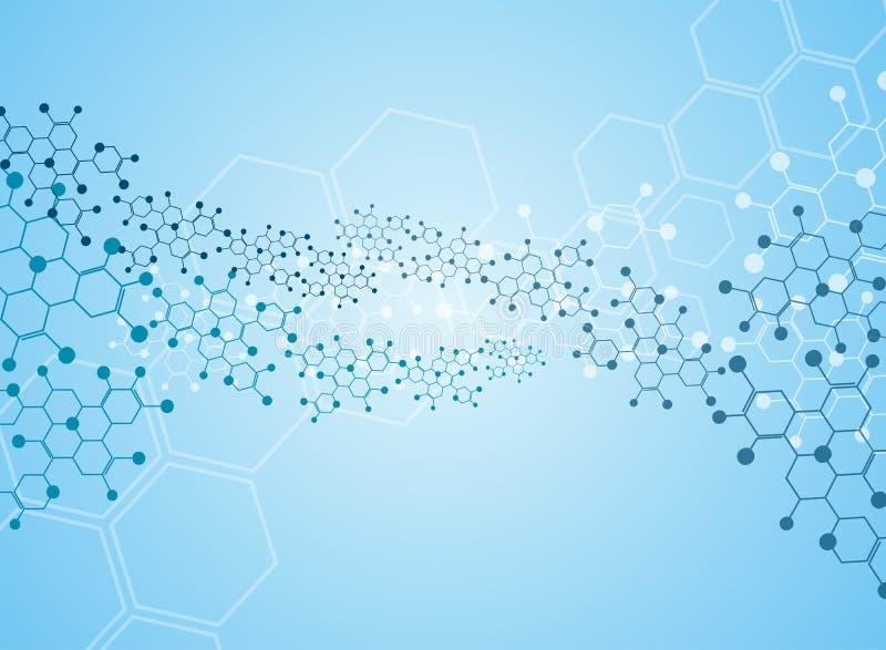 moléculaire illustration de vecteur