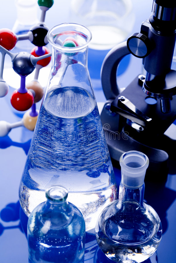 Download Moléculaire Modèle De Laboratoire Photo stock - Image du science, verrerie: 8669882