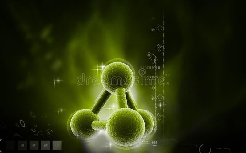 moléculas ilustración del vector