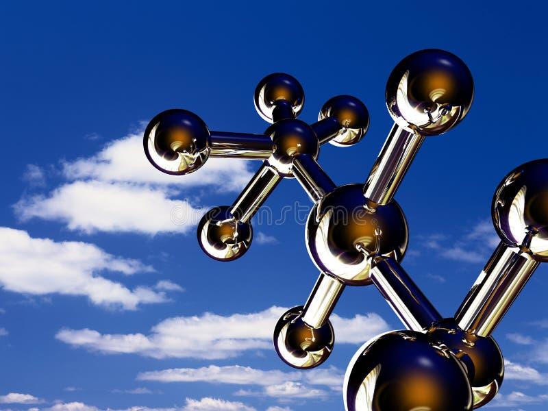 Moléculas imagen de archivo libre de regalías