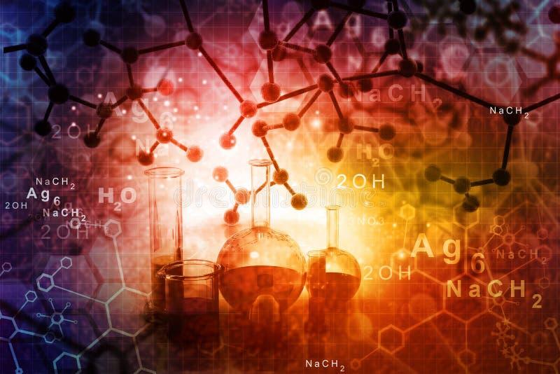 Moléculas abstratas imagens de stock